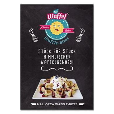 Poster Design Waffle Shop