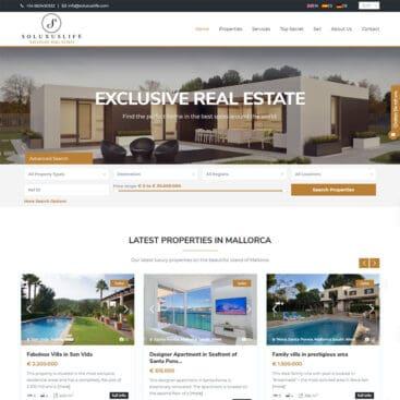 Mallorca Real Estate Website Design