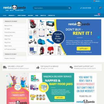 Rental Shop Webdesign